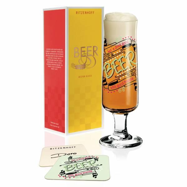 Beer Bierglas von Dorothee Kupitz