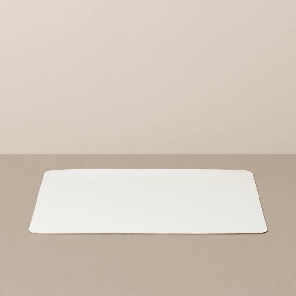Tray insert / placemat L, square, in white / mint