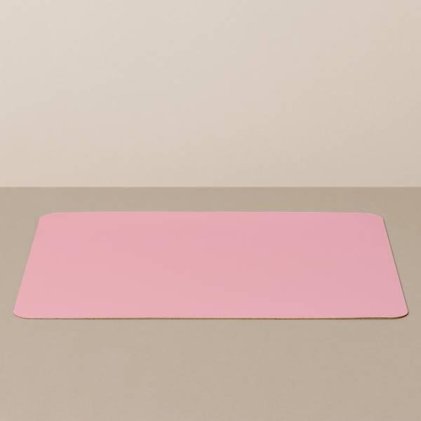 Tabletteinlage/Platzset XL, eckig, in Weiß/Rosa