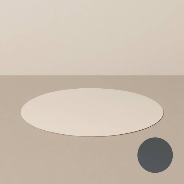 Placemat M, round, in sand / stone