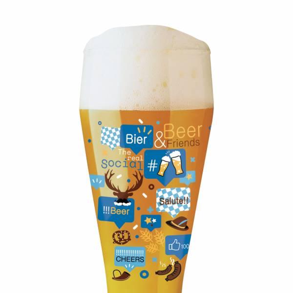 Wheat Wheat beer glass from Shinobu Ito