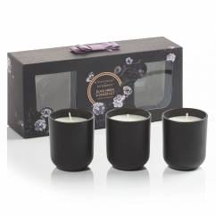 Noir scented candle set of 3, Black Amber & Ginger Lily