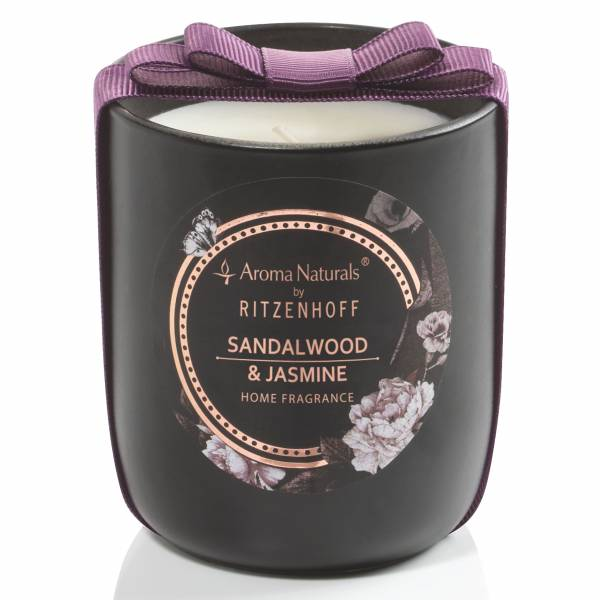 Noir scented candle, Sandalwood & Jasmine (H: 8.5 cm, ø 7.5 cm)