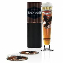 Black Label beer glass by Michaela Koch