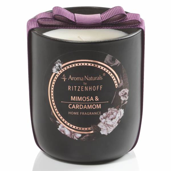 Noir scented candle, mimosa & cardamom (H: 8.5 cm, ø 7.5 cm)