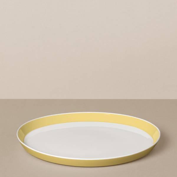 Speiseteller in Weiß/Gelb