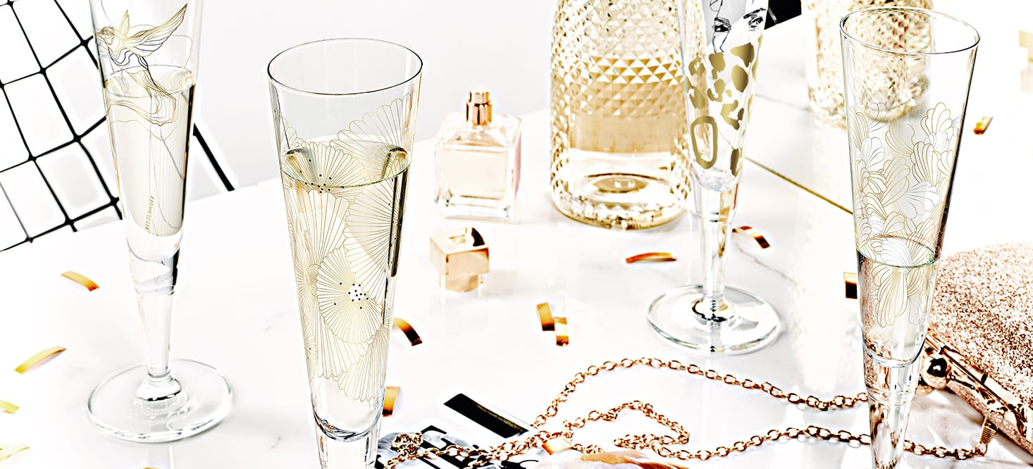 Champus: Champagne glass