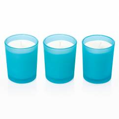 Modern scented candle set of 3, Spa Harmony