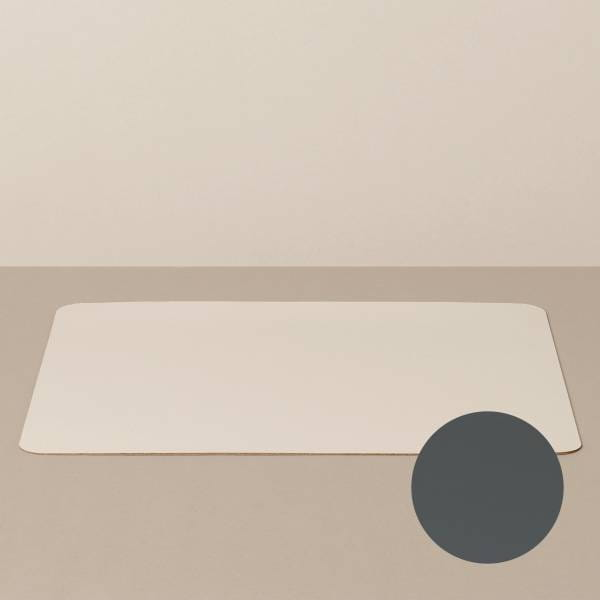 Tray insert / placemat XL, square, in sand / stone