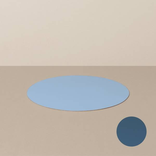 Coaster S, round, in light blue / jeans