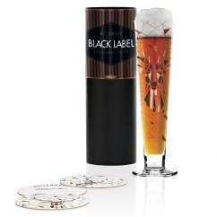 Black Label Bierglas von Kurz Kurz Design