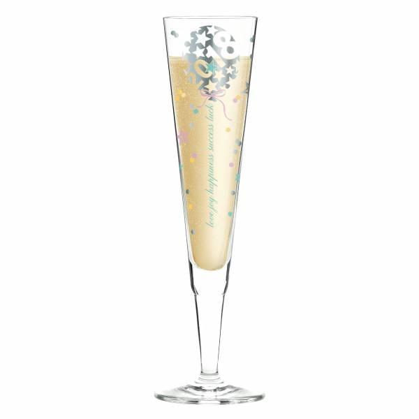 Champus Jahrgangs-Champagnerglas 2018 von Kathrin Stockebrand