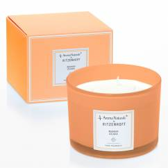 Modern scented candle 3-wick, mango guava