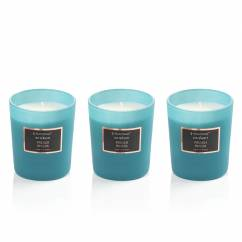 Selection scented candle set of 3, French Riviera