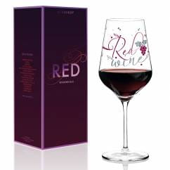 Red wine glass by Kathrin Stockebrand