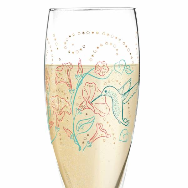 Pearls Edition Prosecco Glass by Shari Warren