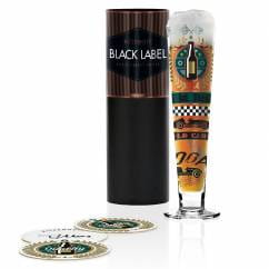 Black Label beer glass by Thomas Marutschke