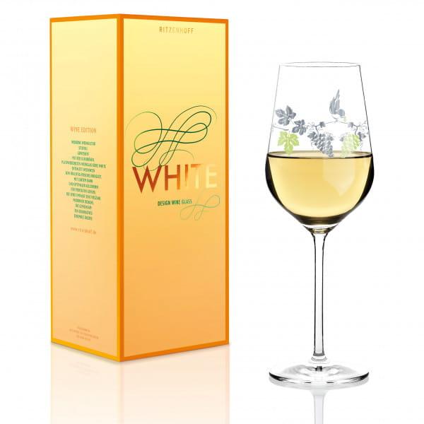White white wine glass from Concetta Lorenzo