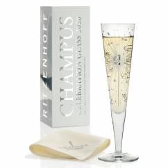 Champus Jahrgangs-Champagnerglas 2020 mit edlen Swarovski-Steinen