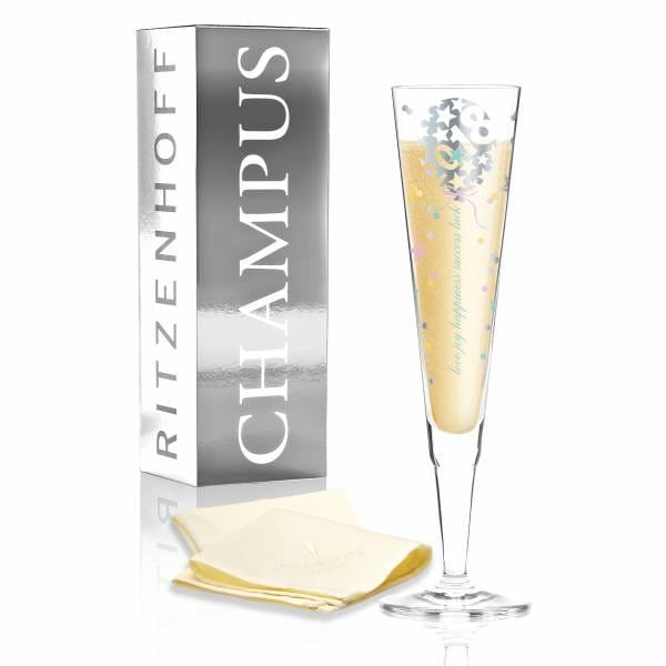 Champus vintage champagne glass 2018 by Kathrin Stockebrand