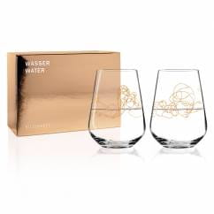 Wine Ensemble Water Glass Set by Burkhard Neie (Dionysos & Pan | Zeus & Semele)