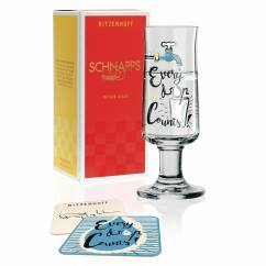Schnapps shot glass by Dominika Przybylska (Every drop)