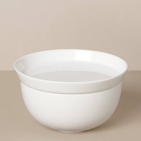 Large bowl and plate set in white