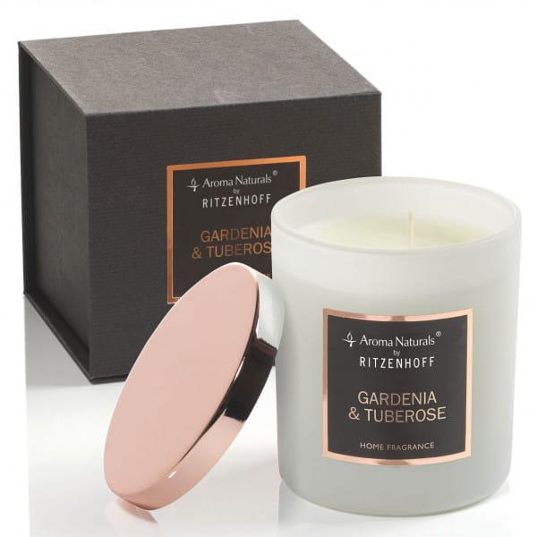 Selection scented candle, gardenia & tuberose (H: 9 cm, ø 8 cm)