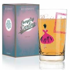 Everyday Darling soft drink glass by Alice Wilson