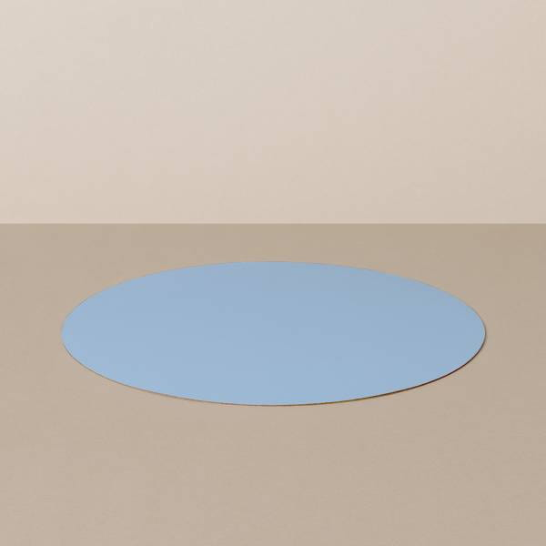 Place mat M, round, in light blue / jeans