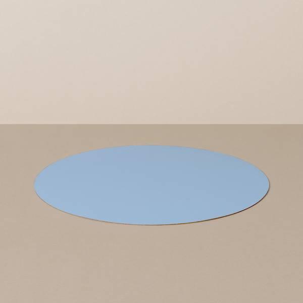 Platzset M, rund, in Hellblau/Jeans