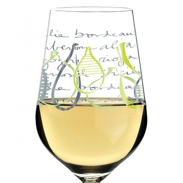 White Weißweinglas von Virginia Romo