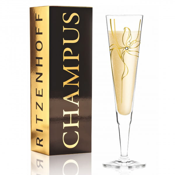 Champus Champagnerglas von Malika Novi