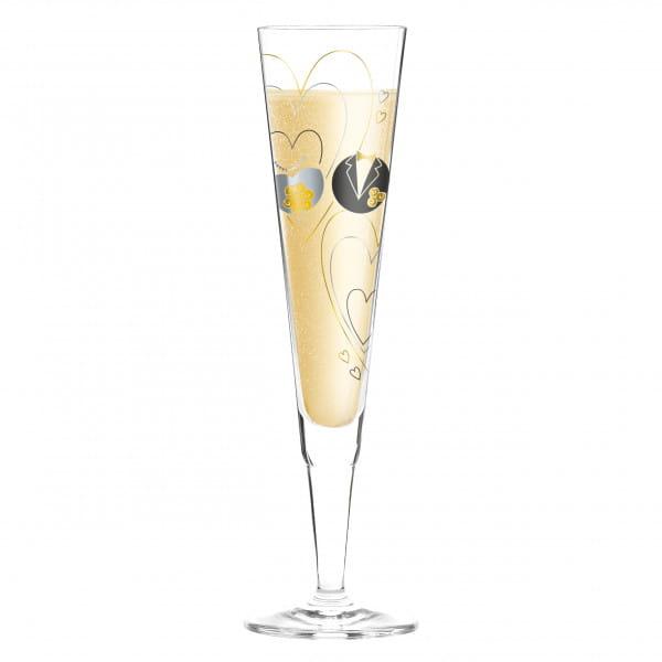 Champus Champagnerglas von Sandra Brandhofer