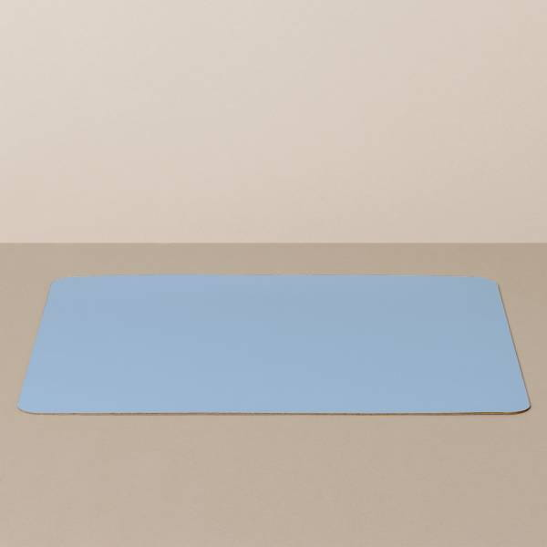 Tray insert / placemat XL, square, in light blue / jeans
