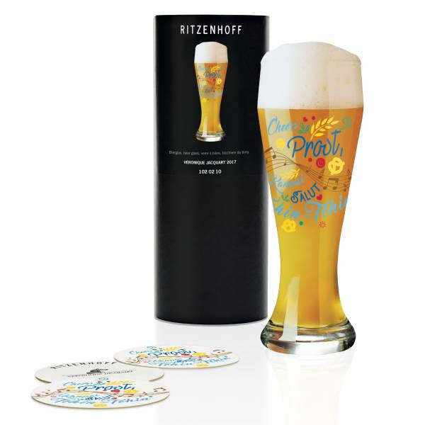 Wheat wheat beer glass by Véronique Jacquart
