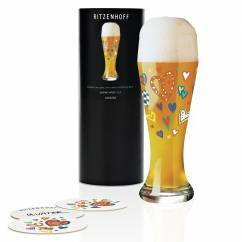 Weizen Wheat beer glass from Ulrike Vater