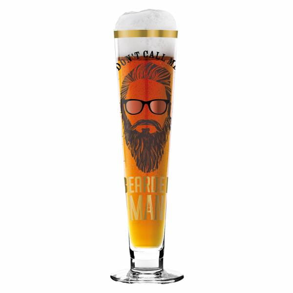 Black Label beer glass by Alice Wilson