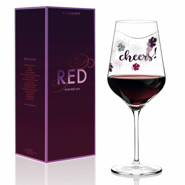 Red Rotweinglas von Lenka Kühnertová