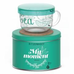 My Moment tea glass by Véronique Jacquart