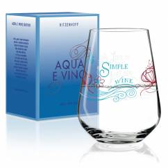 Aqua e Vino water and wine glass by Natalia Yablunovska