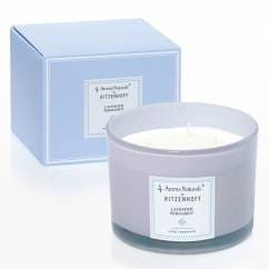 Modern scented candle 3-wick, lavender bergamot