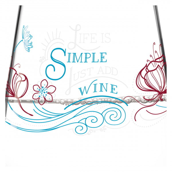 Aqua e Vino water and wine glass by Natalia Yablunovska