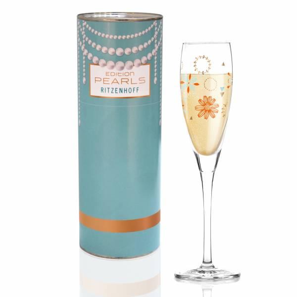 Pearls Edition Proseccoglas von Flora Waycott