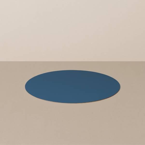 Untersetzer S, rund, in Hellblau/Jeans