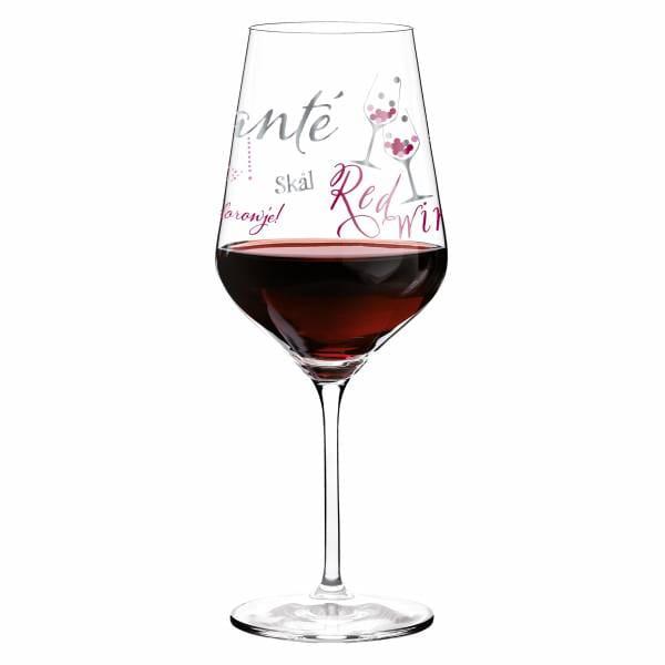 Red wine glass by Kathrin Stockebrand
