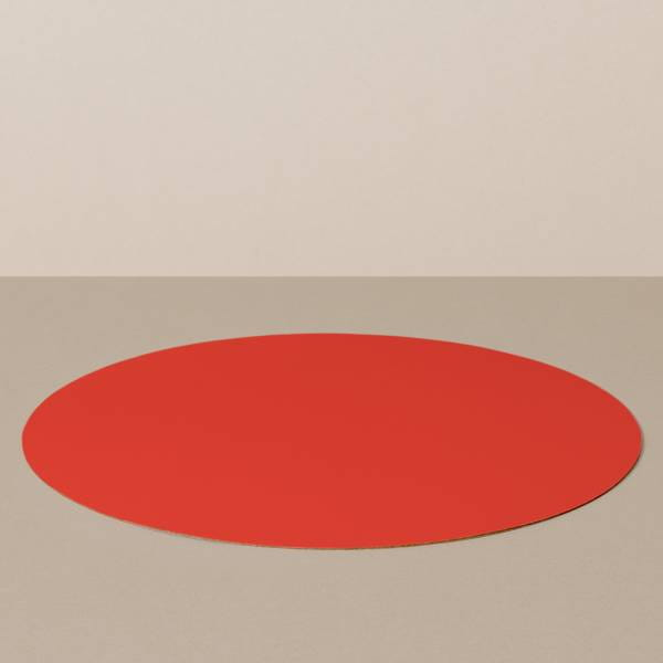 Placemat L, round, in black / red