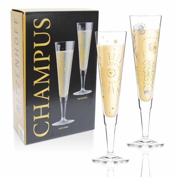 Champus Champagnerglas 2er-Set von Carolin Körner & Dorothee Kupitz