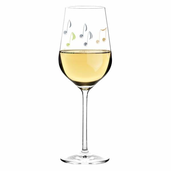 White white wine glass by Angela Schiewer