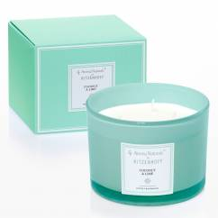 Modern scented candle 3-wick, coconut & lime